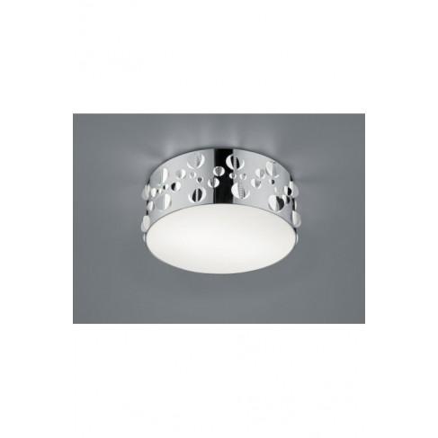 Lámpara Plafón de Techo Praque Cromo