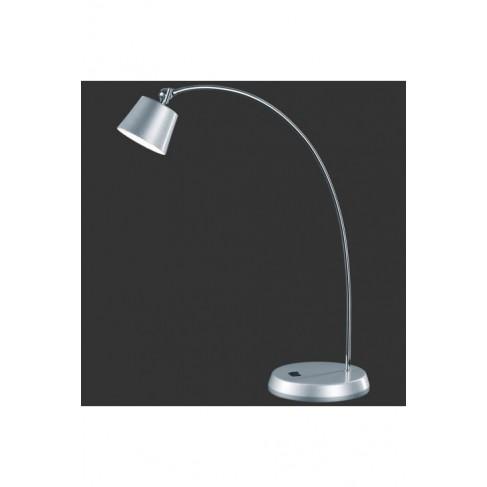 Lámpara Sobremesa Led Cromo Aluminio