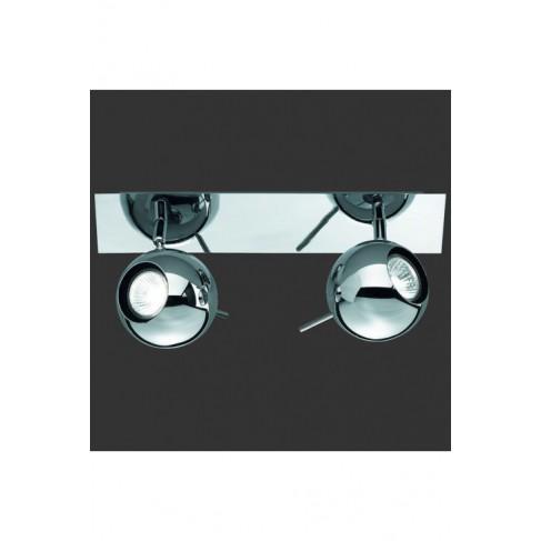 Lámpara Regleta Orb Cromo 2 luces
