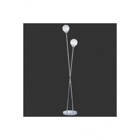 Lámpara De Pie Wire Cromo 2 Luces