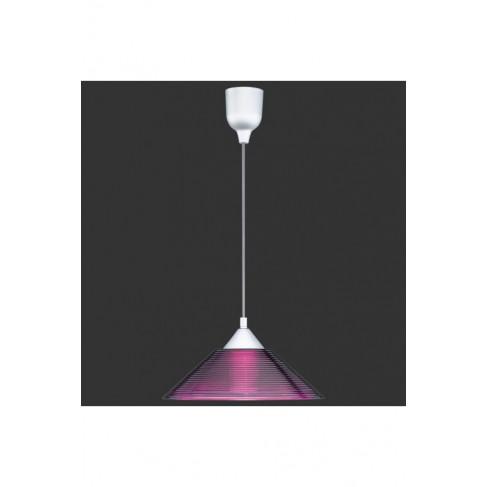 Lámpara Colgante 1 Luz Cristal Lila