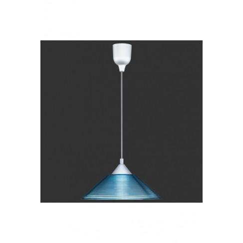 Lámpara Colgante 1 Luz Cristal Azul