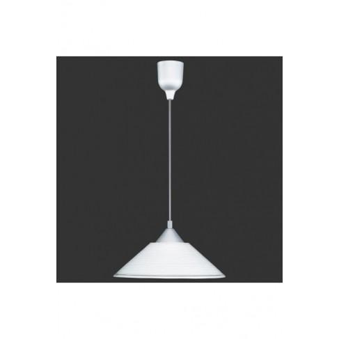Lámpara Colgante 1 Luz Cristal Blanco
