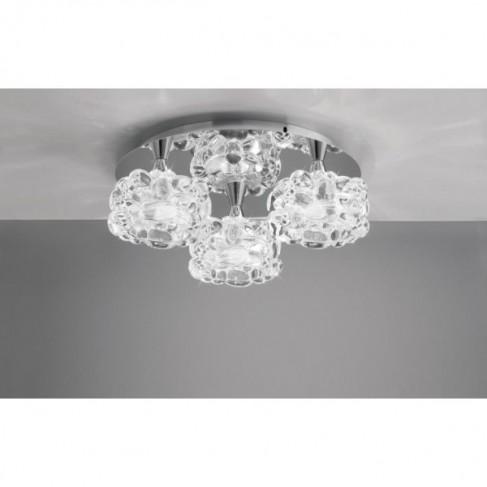 Lámpara Plafón de Techo O2 Cromo 3 Luces