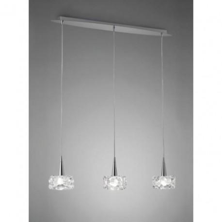 Lámpara Colgante O2 Cromo 3 Luces