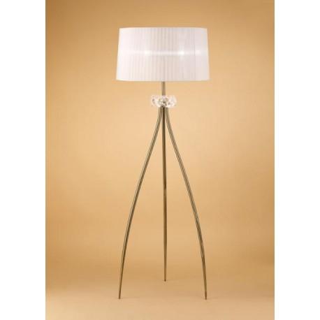 Lámpara de Pie Loewe Cuero 3 Luces