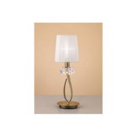 Lámpara de Sobremesa Pequeño Loewe Cuero 1 Luz