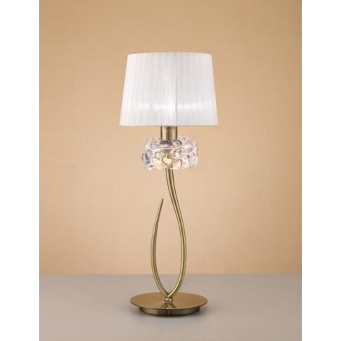 Lámpara de Sobremesa Loewe Cuero 1 Luz
