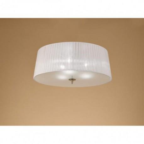 Lámpara Plafón de Techo Loewe Cuero 3 Luces