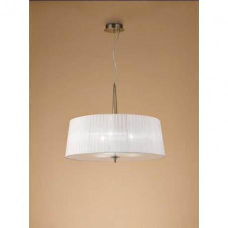 Lámpara Colgante Loewe Cuero 3 Luces