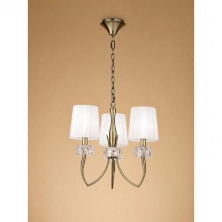 Lámpara Loewe Cuero 3 Luces