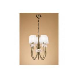 Lámpara Loewe Cuero 5 Luces Cerrada