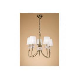 Lámpara Loewe Cuero 5 Luces
