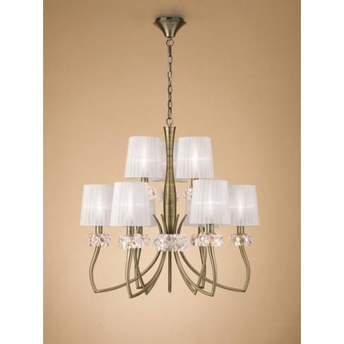 Lámpara Loewe Cuero 9 Luces