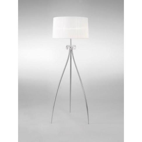 Lámpara de Pie Loewe Cromo 3 Luces