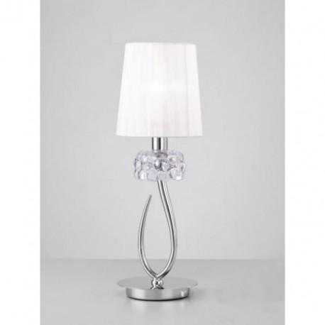 Lámpara de Sobremesa Pequeño Loewe Cromo 1 Luz