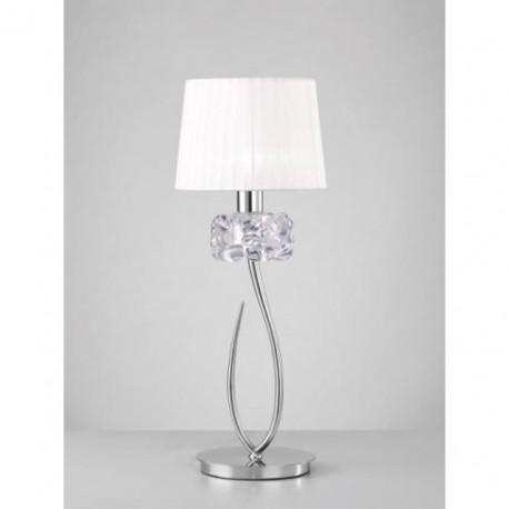 Lámpara de Sobremesa Loewe Cromo 1 Luz