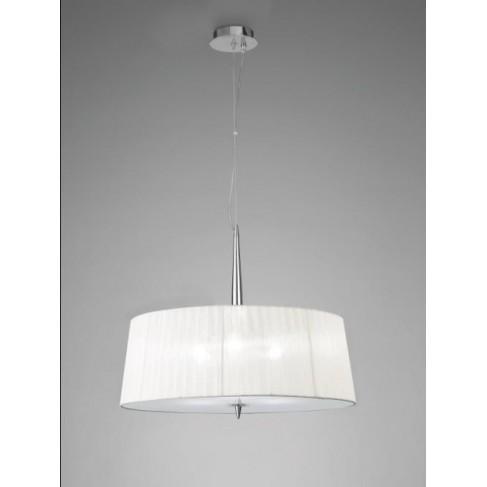 Lámpara Colgante Loewe Cromo 3 Luces