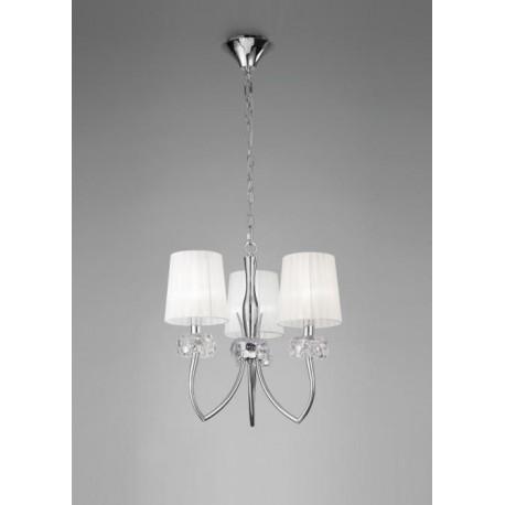 Lámpara Loewe Cromo 3 Luces
