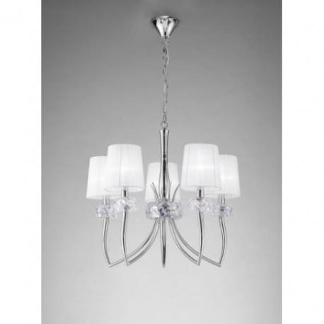 Lámpara Loewe Cromo 5 Luces