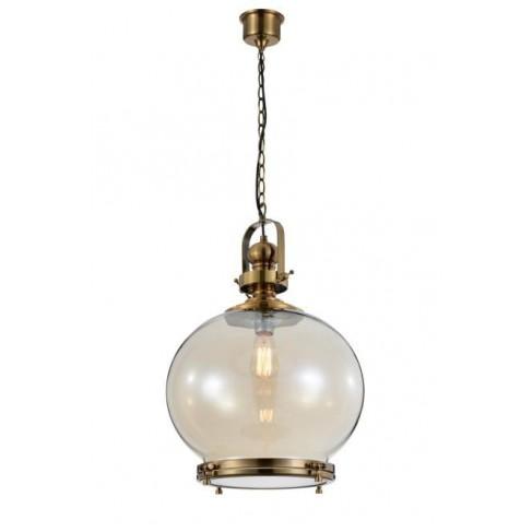 Lámpara Colgante Vintage Ball 40 Cuero