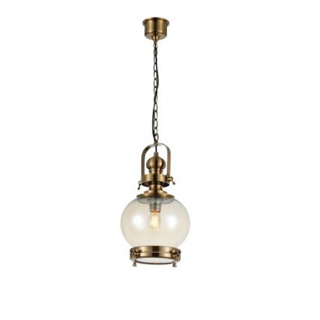 Lámpara Colgante Vintage Ball 24 Cuero