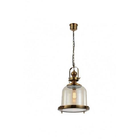 Lámpara Colgante Vintage Bell 38 Cuero