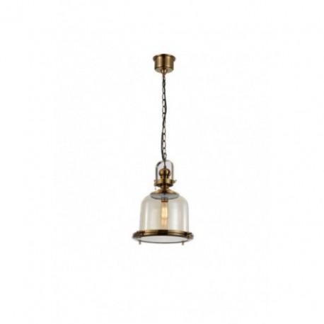 Lámpara Colgante Vintage Bell 26 Cuero