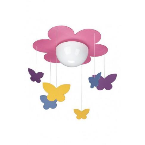 Lámpara Colgante Infantil Meria Fucsia 1 Luz
