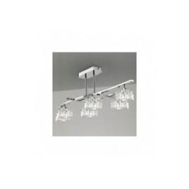 Lámpara Colgante Zen Cromo 6 Luces
