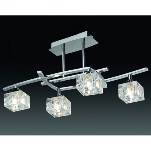 Lámpara Colgante Zen Cromo 4 Luces