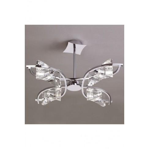 Lámpara Colgante Krom Cromo 4 Luces