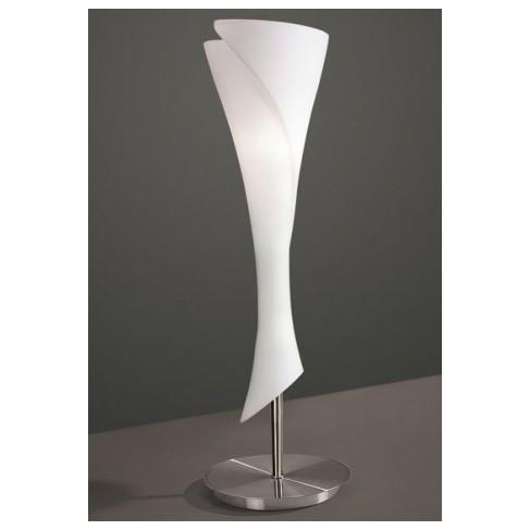 Lámpara de Sobremesa Zack Niquel Satinado 1 Luz
