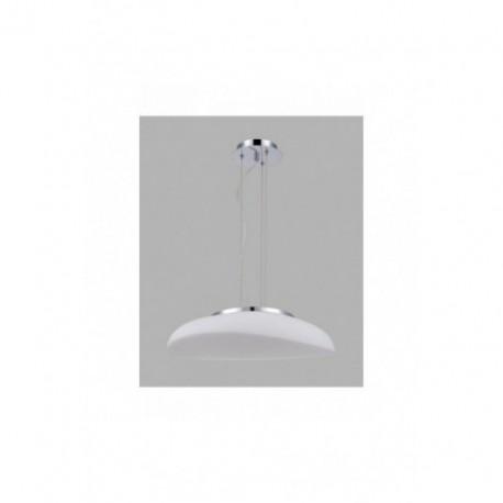 Lámpara Colgante Opal Cromo 4 Luces