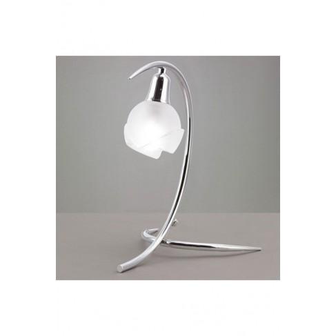 Lámpara de Sobremesa Bali Cromo 1 Luz