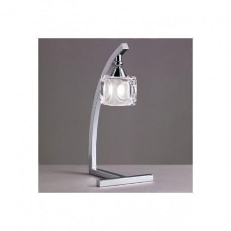 Lámpara de Sobremesa Led Cuadrax Cromo 1 Luz