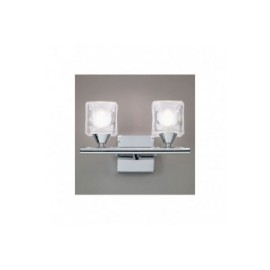Aplique de Pared Led Cuadrax Cromo 2 Luces