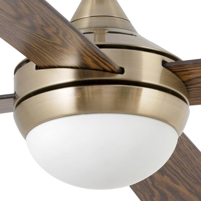 Ventilador de Techo Faro Mini Icaria Oro Viejo con luz 2xE14