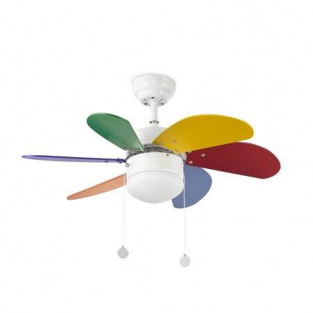 Ventilador de Techo Faro Palao 81cm Multi Color 6 Palas 1 X E14 40W