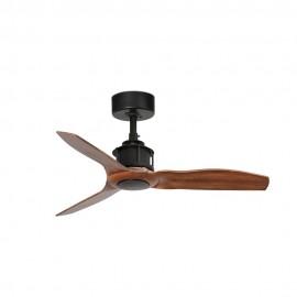 Ventilador de Techo Faro Just Fan Xs 91cm Negro Palas Madera