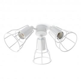 Faro Kit de Luz para Ventilador de Techo Blanco 3 E27 60W Para Yakarta