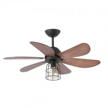 Ventilador de Techo Faro Chicago 90cm 6 Palas Negro 1Xe27 60W