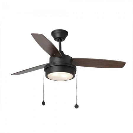 Ventilador de Techo Faro Komodo 106cm Negro 3 Palas 2Xe14