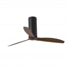 Ventilador de Techo Faro Tube Fan 128cm Negro Mate 3 Palas Madera