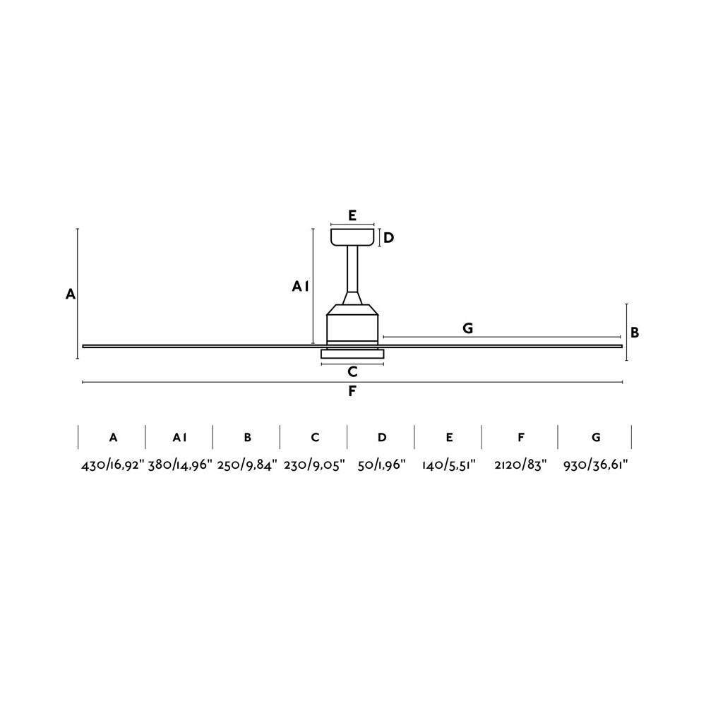 210cm Cies Techo Faro Palas Blanco De 6 Ventilador rdshQt