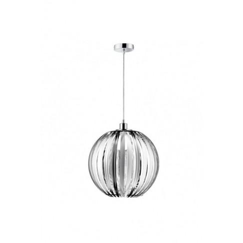 Lámpara Colgante Gajos Cromo 1 Luz 25cm
