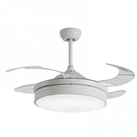 Ventilador de Techo Sulion Bombay IOT LED 107cm 4 Palas Retráctiles Blanco