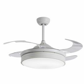 Ventilador de Techo Sulion Bombay LED 107cm 4 Palas Retráctiles Blanco