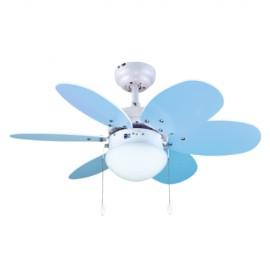 Ventilador de Techo Infantil Bastilipo Aguadulce Azul 75cm