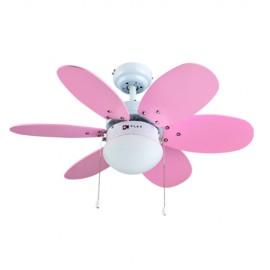 Ventilador de Techo Infantil Bastilipo Aguadulce Rosa 75cm